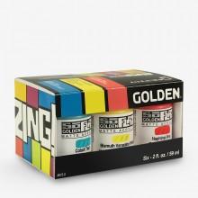 Golden : SoFlat : Matte Acrylic Paint : 59ml : Zing Set of 6