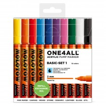 Molotow : One4All : 127HS : Acrylic Marker : Basic Set 1 : 10 Colours