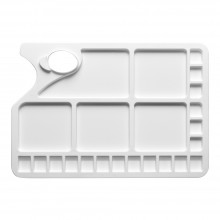 Studio Essentials : Large Rectangular Plastic Palette : 10x13in : 23 Well