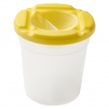 Studio Essentials : Water Pot With No-Spill Lid : 3in Diameter : Assorted Colours
