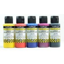 Vallejo : Premium Airbrush Paint : Set of 5 : Candy Colours Colours