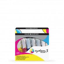 Daler Rowney : System 3 : Acrylic Paint : 59ml : Process Set of 6