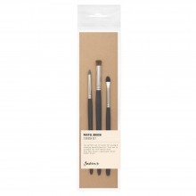 Jackson : Pastel Brush : Set of 3 : Contains Blender Brush and Silicone Tool