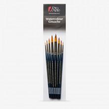 Pro Arte : Mastertouch : Aquamarine : Round : Watercolour & Gouache Brush Set