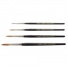 Rosemary & Co : Shirley Trevena : Kolinsky Sable Watercolour Brush : Set of 4