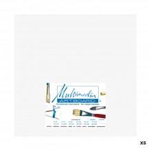 Multimedia Artboard : Artist Panel : 0.8 mm : 5 Pack : 9x12in : White