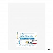 Multimedia Artboard : Artist Panel : 0.8 mm : 5 Pack : 11x14in : White