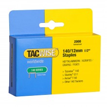 Tacwise : 140 Staples : 12mm : Box of 2000