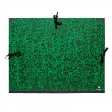 Clairefontaine : Green Marbled Folder with Ties : 61x76cm