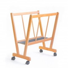 Cappelletto : PC-70 : Beechwood Print Rack With Wheels