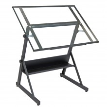 Studio Designs : Solano Drafting Table : Matt Charcoal Black