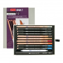 Bruynzeel : Design : Colour Pencil : Specialty Box of 12 : Assorted Colours
