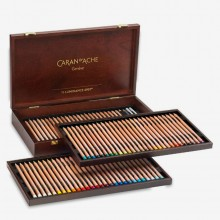 Caran d'Ache : Luminance 6901 : Colour Pencil : Wooden Box Set of 76