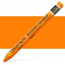 Caran d'Ache : Neocolor II : Watercolour Crayon : Orange