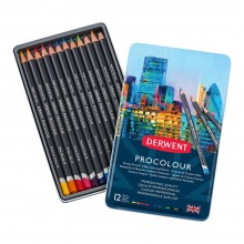 Derwent : Procolour : Colour Pencil : Tin Set of 12