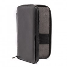 Global : Leather Black Folding Colour Pencil Case Holds 24