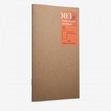 Traveler's Company : Traveler's Notebook : Refill : Blank 003