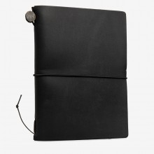 Traveler's Company : Traveler's Notebook : Passport Size : Leather Cover : Black