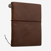 Traveler's Company : Traveler's Notebook : Passport Size : Leather Cover : Brown