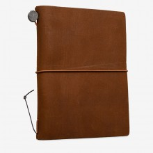Traveler's Company : Traveler's Notebook : Passport Size : Leather Cover : Camel