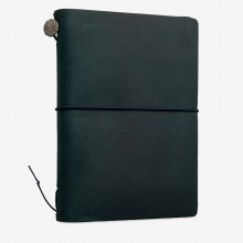 Traveler's Company : Traveler's Notebook : Passport Size : Leather Cover : Blue