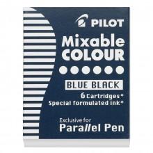 Pilot : Parallel Lettering Pen Ink Cartridge : Set of 6 : Blue