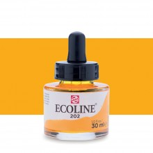 Talens : Ecoline : Liquid Watercolour Ink : 30ml : Deep Yellow