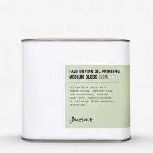 Jackson's : Fast Drying Oil Painting Medium : Gloss : 500ml : Ship By Road Only