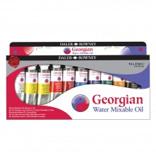 Daler Rowney : Georgian Water Mixable Oil Paint Starter Set : 37ml : Set Of 10