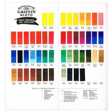 Winsor & Newton : Grffin : Alkyd Oil Paint : Hand Painted Colour Chart
