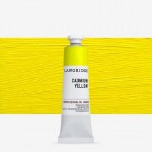 Langridge : Oil Paint : 40ml : Cadmium Yellow