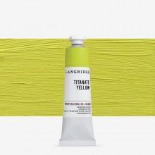 Langridge : Oil Paint : 40ml : Titanate Yellow