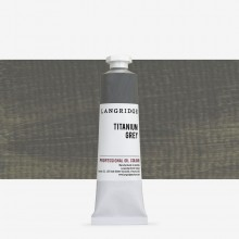 Langridge : Oil Paint : 40ml : Titanium Grey