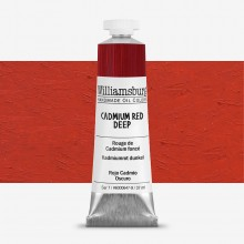 Williamsburg : Oil Paint : 37ml Cadmium Red Deep