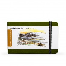 Hand Book Journal Company : Drawing Journal : 3.5x5.5in : Landscape : Cadmium Green