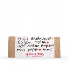 Khadi : Handmade Hard Back Sketchbook 210gsm : Rough : 13x32cm : 16 Sheets