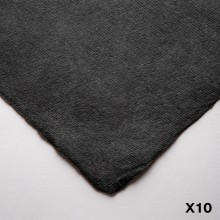 Khadi : Handmade Black Rag Paper : 320gsm : Smooth : 56x76cm : 10 Sheets