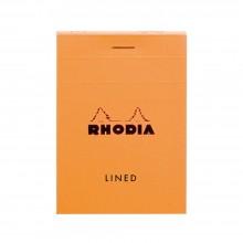 Rhodia : Basics Lined Pad : Orange Cover : 80 Sheets : A7 7.4x10.5cm