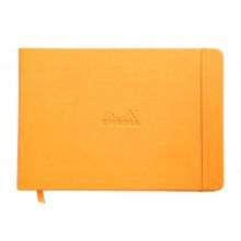 Rhodia : Webnotebook Landscape Unlined Ivory Pad : Orange Cover : 96 Sheets : A5