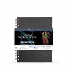 Stillman & Birn : Nova : Wirebound Mixed Media Sketchbook : 150gsm : 6x8in (15.2x20.3cm) : Black