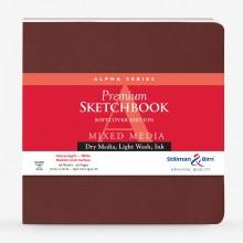 Stillman & Birn : Alpha Softcover Sketchbook : 150gsm : Med Grain : 7.5x7.5in (19x19cm) : Square