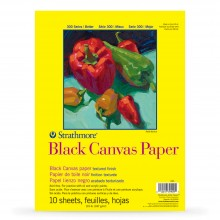 Strathmore : 300 Series : Black Canvas Paper Pad : 10 Sheets : 12x16in