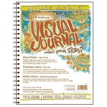 Strathmore : Visual Journal : Mixed Media Paper Pad : 163gsm : 9x12in : 34 Sheets : Vellum