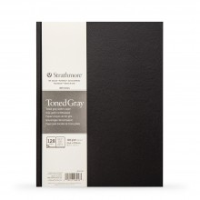 Strathmore : 400 Series : Hardbound Toned Grey Sketchbook : 118gsm : 128 Pages : 8.5x11in