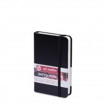 Royal Talens : Art Creation : Hardback Sketchbook : 9x14cm : Black