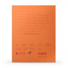 Yupo : Medium Watercolour Paper Pad : 74lb (200gsm) : 9x12in : 10 Sheets : White