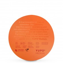 Yupo : Round : Medium Watercolour Paper : 74lb (200gsm) : 8in Diameter : 10 Sheets : White