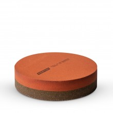 Round India Sharpening Stone : Double Sided Oilstone : 25mm Depth : 100mm Diameter