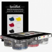 Speedball : Professional Relief Ink : 8oz (236.5ml) : Set of 6