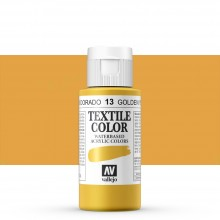 Vallejo : Textile Paint : 60ml : Golden Yellow